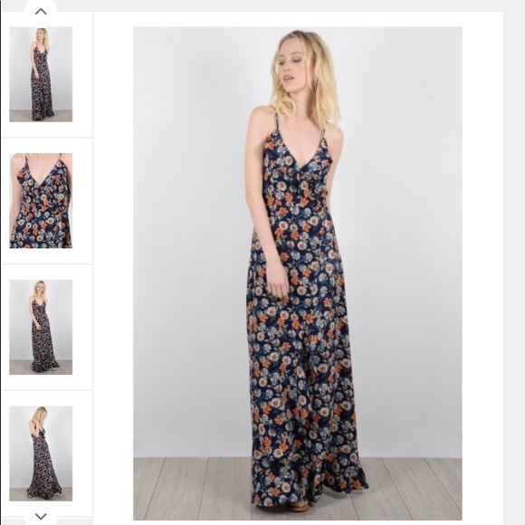c73eaa35c81b5 Molly Bracken Dresses   European Floral Blue Maxi Dress   Poshmark